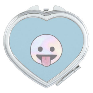 Smile Doodle Heart Compact Mirror