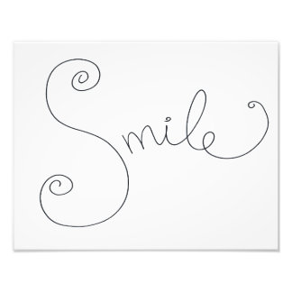 smile doodle print photo print