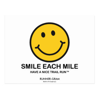 "Smile Each Mile / ""Nice Trail Run"" Runner-Gram Postcard"