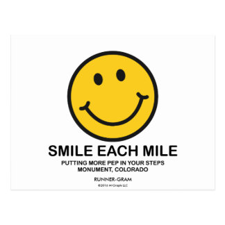 "Smile Each Mile / ""Pep In Steps"" Runner-Gram Postcard"