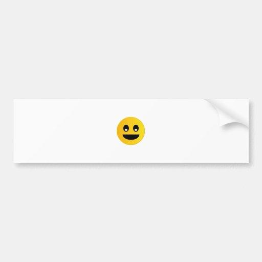 Smile emoticon bumper stickers