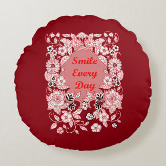 Smile Every Day 2 Round Cushion