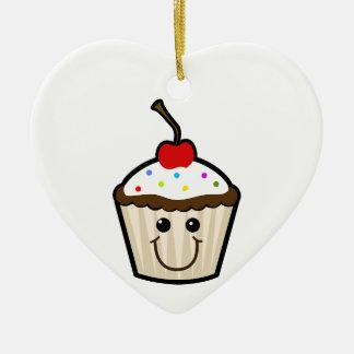 Smile Face Cupcake Ornament