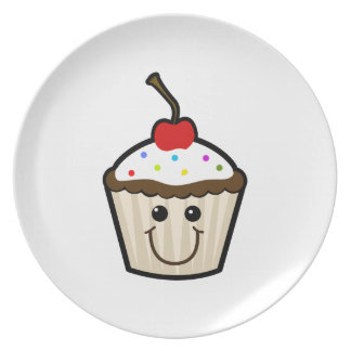 Smile Face Cupcake Party Plates