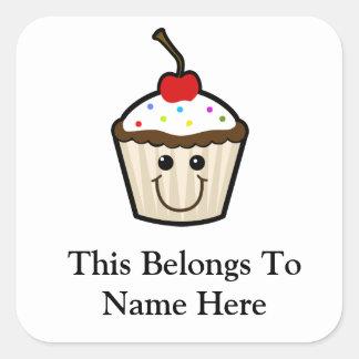 Smile Face Cupcake Sticker