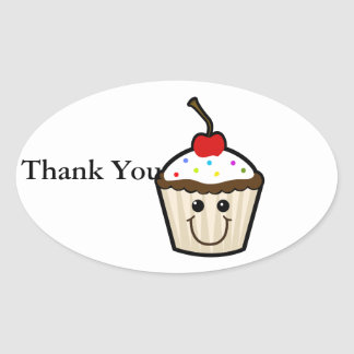 Smile Face Cupcake Stickers