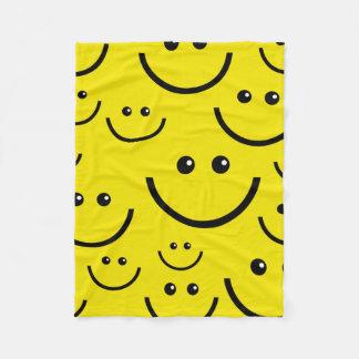Smile Face - Happy Face Fleece Blanket