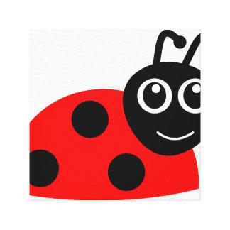 """Smile Face Ladybug"" Canvas Print"