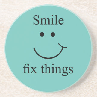 Smile fix things coaster