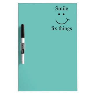 Smile fix things dry erase board