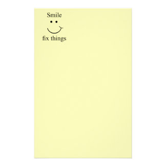 Smile fix things stationery