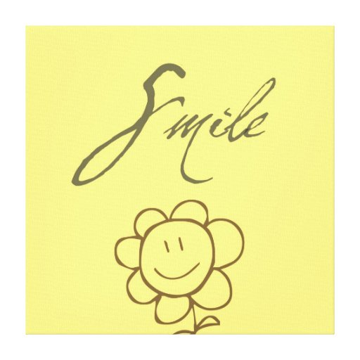Smile Flower Gallery Wrapped Canvas