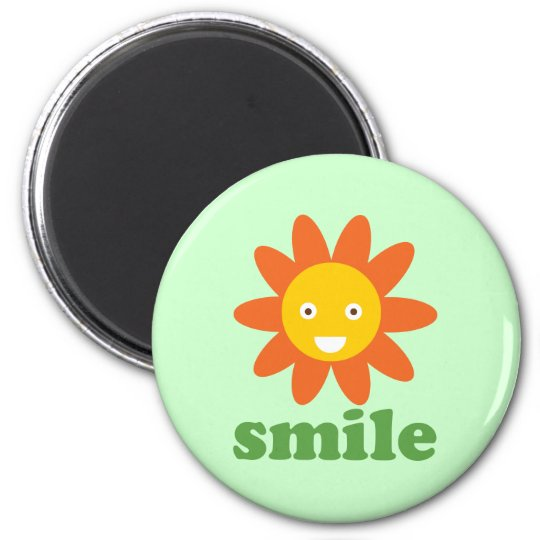 Smile Flower Magnet