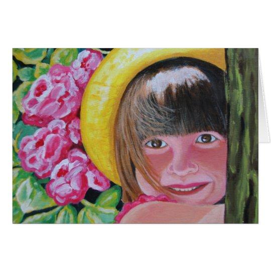 Smile Girl Card