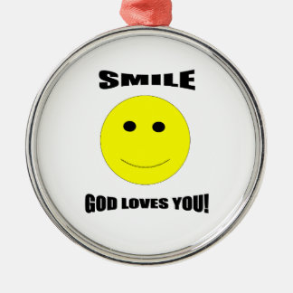 Smile God Loves You Christmas Ornament