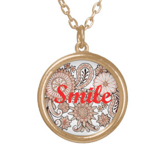 Smile Gold Plated Necklace