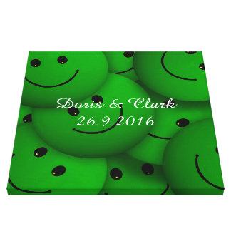 Smile green canvas print