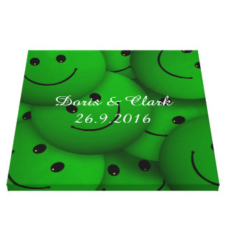 Smile green gallery wrapped canvas