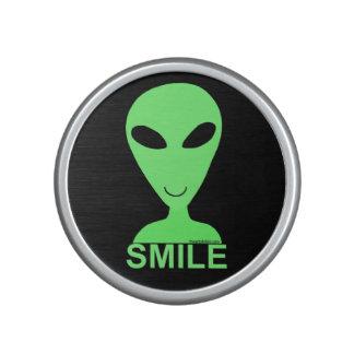 Smile Happy Alien LGM Geek Humor Cute Silly Bluetooth Speaker
