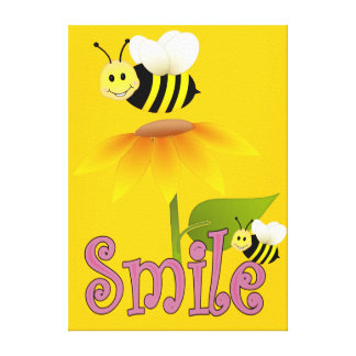 Smile Happy Bees Canvas Print