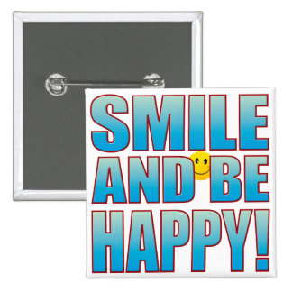 Smile Happy Life B 15 Cm Square Badge