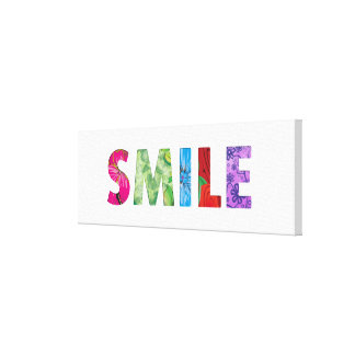 Smile Happy Quote #02 Gallery Wrapped Canvas