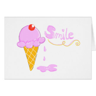 Smile Ice Cream Card