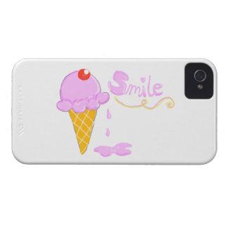 Smile Ice Cream iPhone 4 Case-Mate Cases