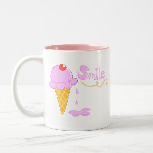 Smile Ice Cream Coffee Mugs