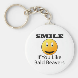 Smile If You Like Bald Beaver Keychain