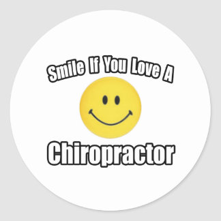 Smile If You Love a Chiropractor Round Sticker