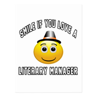 smile if you love a Literary Manager. Postcard