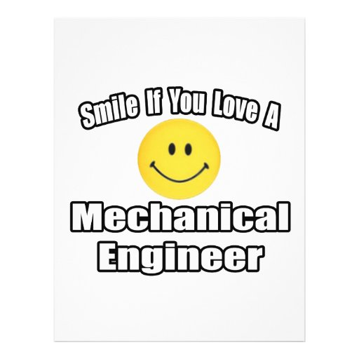 Smile If You Love A Mechanical Engineer Custom Flyer