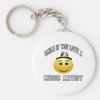 smile if you love a Music artist. Key Chain