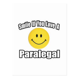 Smile If You Love a Paralegal Postcard