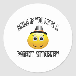 smile if you love a Patent attorney. Sticker