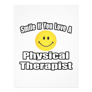 Smile If You Love A Physical Therapist 21.5 Cm X 28 Cm Flyer