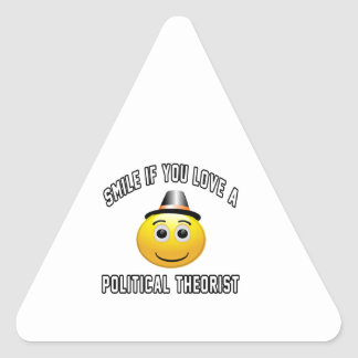 smile if you love a Political theorist. Triangle Sticker