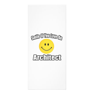 Smile If You Love an Architect Personalized Rack Card