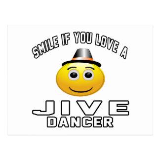 Smile if you love Jive Dancer Postcard