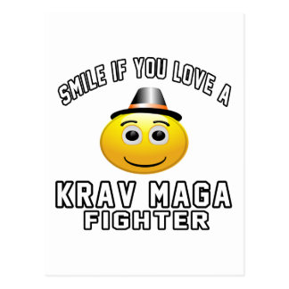 Smile if you love Krav Maga Fighter Postcard