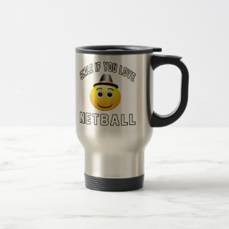 Smile if you love Netball. Stainless Steel Travel Mug