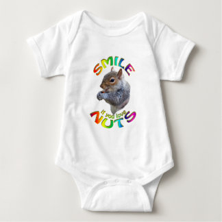 smile if you love nuts rainbow baby bodysuit