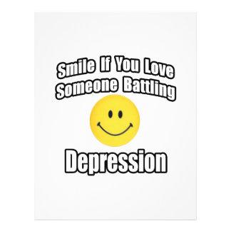 Smile If You Love Someone Battling Depression 21.5 Cm X 28 Cm Flyer