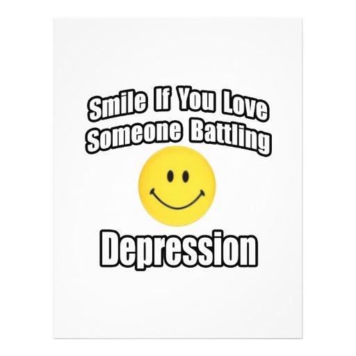 Smile If You Love Someone Battling Depression Flyer Design