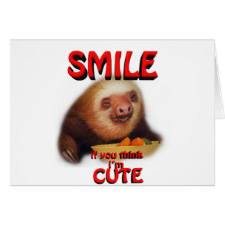 smile if you think i m cute greeting card