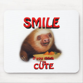 smile if you think i m cute mouse pads