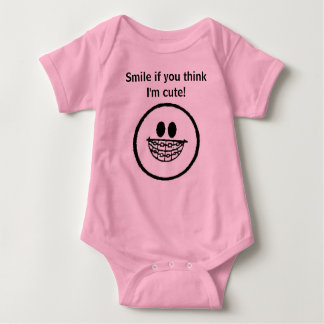 Smile if you think I'm cute Infant T Shirt