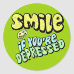 Smile if You're Depressed Stickers