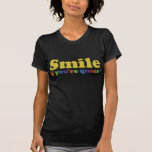 Smile If You're Queer Tee Shirt